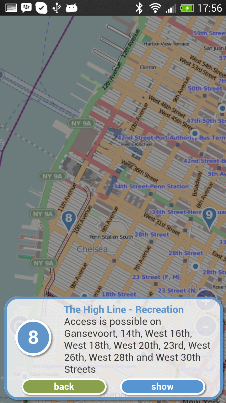 Ieniemienie Productions - Nyc map app android
